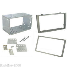 CT23PE03 PEUGEOT 308 2007 to 2014 SILVER DOUBLE DIN FASCIA FACIA ADAPTOR KIT