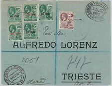 52364 - CMONTSERRAT -  POSTAL HISTORY - REGISTERED COVER FRONT to TRIESTE 1923