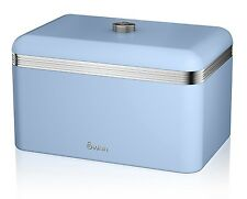 Swan Retro Bread Bin Storage Container Blue SWKA1010BLN