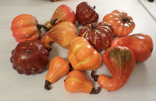 12 SM FAUX GOURDS & PUMPKINS HM DECOR FALL HALLOWEEN THANKSGIVING WREATHS CRAFTS