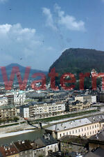 Areal Skyline View Salzburg, Austria 1954 Red Border Kodak 35mm Slide