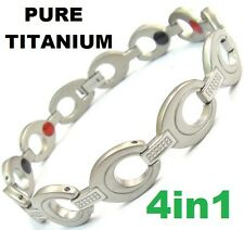 Magnet Magnetic Pure TITANIUM Energy Power Bracelet Health Bio Armband Cuff 4in1