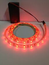 Costume Ligthing Red Led Light, 9V Battery Operated 500mm Waterproof Strip.
