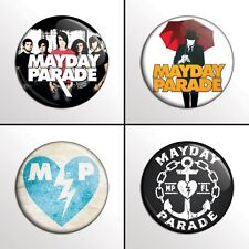 "4-Piece MAYDAY PARADE  1"" Band Pinback Buttons / Pins / Badges Set"
