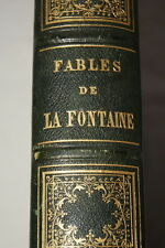 LA FONTAINE-FABLES-GRANDVILLE 1868 RELIURE ILLUSTRE