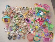 140+ PC ACCESSORIES Huge Lot Littlest Pet Shop Mattel & More! 60 Pets Food Cat