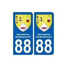 88 Saint-étienne-lès-Remiremont blason autocollant plaque stickers ville droits