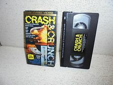 Crash And Crunch : Top Fuel Funny Cars Dragsters Monster Trucks VHS Video