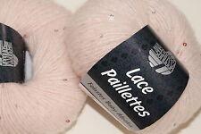 Wolltruhe!* Lana Grossa Lace  Paillettes  Fb. 27  puderrosa  25g
