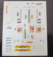 DECAL FERRARI F430 GT2 24H LE MANS 2008 #78 TEAM AF CORSE BBR 1/43 COD.BG347