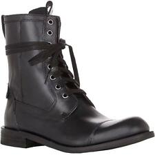 New  - $398.00 JOHN VARVATOS USA Star Strum Black Combat Zip Leather Boots 8