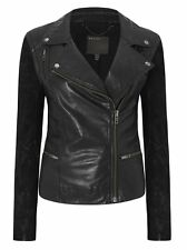 Muubaa Gohana Black Leather Biker UK10 / US6 / EU38 RRP £420