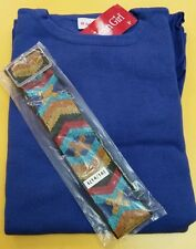 AMERICAN GIRL SAIGE'S BLUE SWEATER DRESS & BELT FOR GIRLS SIZE 14 NEW