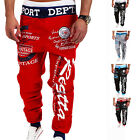 New Men's Letter Printed Sport Sweat Pants Jogger Trousers Tracksuit Bottoms