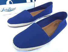 Lucky Brand Dexie Heavy Canvas Flats Slip-On Navy Loafers Shoes Women's 10 new