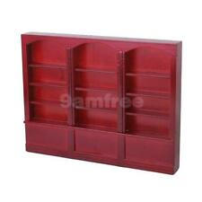 Dolls House Miniature Living Room Furniture Shelf Bookcase Wood display Cabinet