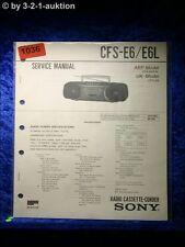 Sony Service Manual CFS E6 / E6L Cassette Recorder (#1036)