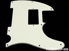 *NEW Parchment HUMBUCKER Telecaster PICKGUARD for USA Fender Tele 3 Ply 8 Hole