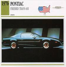 1976 PONTIAC FIREBIRD TRANS-AM Sports Classic Car Photo/Info Maxi Card