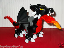 LEGO DUPLO~GROSSER~SCHWARZER~FEUERSPUKENDER~DRACHE~DRAGON~FLAMME~RITTERBURG