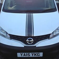 NISSAN NV200 BONNET STRIPES ALL STANDARD COLOURS DECALS STICKERS GRAPHICS