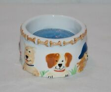 NEW PUPPY DOGS DOG & BONES CERAMIC TEA LIGHT CANDLE HOLDER ADORABLE