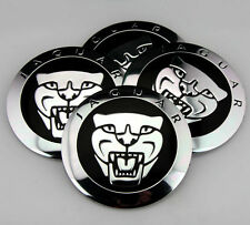 "4x 56mm 2.2"" Car Wheel Center Hub Cap Emblems Badge Decal for Jaguar Leopard NEW"
