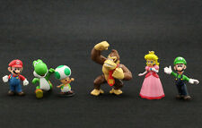 "Lot 6 Super Mario Bros 1-1/2"" ~2-1/2"" Mini Figures Figurine Toy Doll Set"