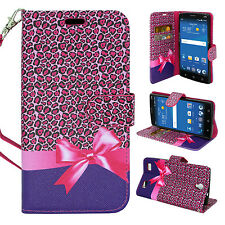 For ZTE ZMAX 2 Cell Phone Card Case Hybrid PU Leather Wallet Pouch Flip Cover