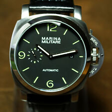 44mm Parnis 1950s Fiddy Style PAM Homage Marina Militare Automatic Watch