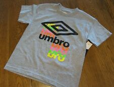 Youth Large Gray Boys Girls UMBRO TSHIRT Neon Letters nwt