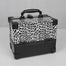 Mollycoddle Small Leopard Animal Makeup Box Beauty Nail Case Cosmetic Trolley