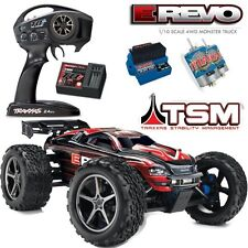 Traxxas 56036-4 1/10 E-Revo Monster Truck 4WD w/ TSM / Radio / Waterproof RED