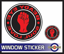 Beady Eye Soul Love Decal Reverse Window Sticker 116mm  VW Camper Car  ws2