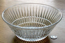 clear GLASS SERVING BOWL diamond ribbed JEANNETTE ANNIVERSARY or similar