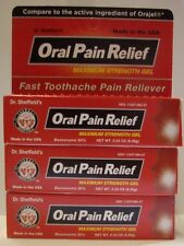 Oral Pain Relief Gel Maximum Strength 20% Benzocaine (Compare to Orajel) -3 Pack