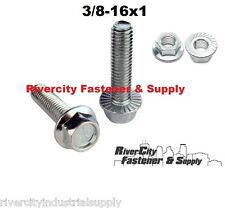 (50) 3/8-16x1 Grade 5 Serrated Hex Head Flange / Bolts / Cap Screws & Nuts