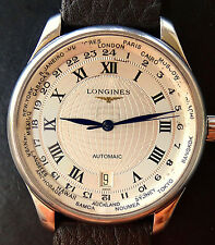 LONGINES Master Collection World Timer Automatik Herren Armbanduhr L2.518.4