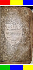 1612-1613 ANTIQUE OCTAVO KING JAMES HOLY BIBLE Jesus Christian Religious Church