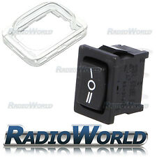 12V SPDT SP3T Waterproof On/Off Rectangle Rocker Switch + Cover Car Dash Boat