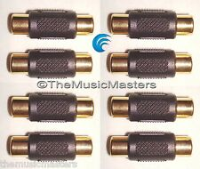 8X RCA Cable Coupler Splice Female Audio Video Connector Jack Adapter Gold VWLTW