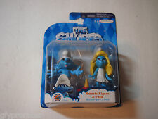 "THE SMURFS Jakks Pacific SMURFETTE & CLUMSY  3"" Figures 2 pack SEALED"
