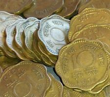 10 PAISE Aluminum-Bronze COIN * LOT OF 25 nos * STEAL DEAL $$$$ REPUBLIC INDIA