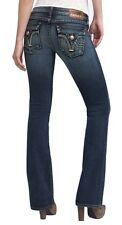 PRVCY Malibu Hills Flare Leg Jeans Pants Trousers Dark Paletto 24 Nwt $154