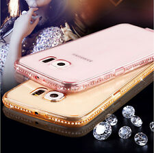 Bling giltter diamond frame clear TPU transparant case Samsung Galaxy S7 S7 edge