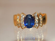 Natural Bright Blue Kashmir Sapphire AAA+ 2.31 tcw LEVIAN Ring 18k YG Diamond