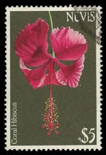 """NEVIS 377 (SG197) - Flowers """"Coral Hibiscus"""" (pa24559)"""