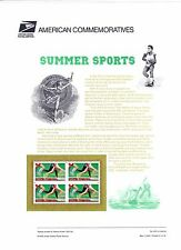 USPS Commemorative Panel 603 #3397 Summer Sports Track Running Mint Blk/4 2000