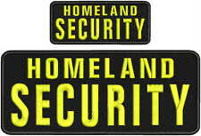 HOMELAND SECURITY Embroidery Pachrt 4x10 and 2x5 hook on back yellow