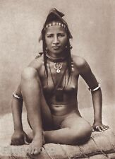 1925 Vintage Print TIMBUKTU FEMALE NUDE West Africa Mali Native Indian Photo Art